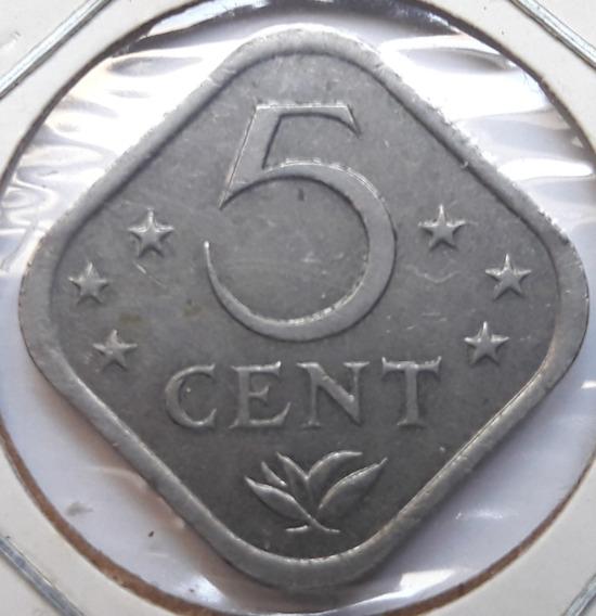 * Antillas Holandesas. Cuadrada. 5 Centavos. Año 1982.