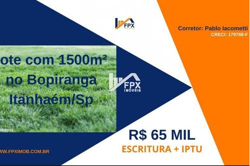 Terreno De Chácara No Bopiranga, Itanhaém Lado Serra Ter046