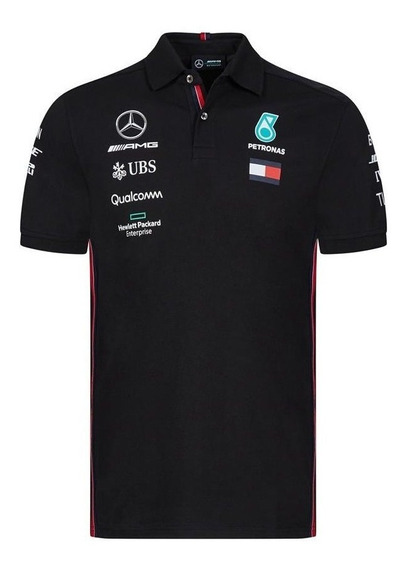 Polo Mercedes Amg Hamilton Bottas F1 Genuina Holograma 2019