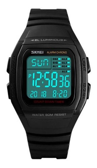 Skmei 1278 Multifunción Led Digital Reloj 50m Reloj Deportiv