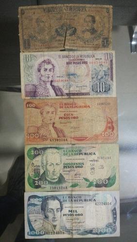 Imagen 1 de 1 de Billetes Antiguos Colombianos - Regular Estado