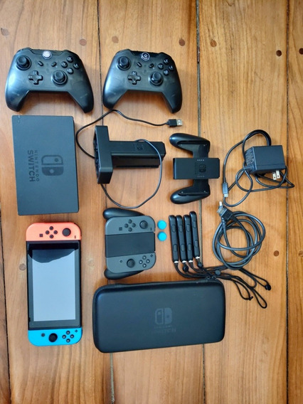 Nintendo Switch Desbloqueado 4 Joy-cons + Sd 256gb Etc