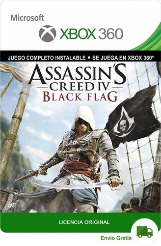 Assassin's Creed 4 Black Flag Xbox 360 Lic Original Digital