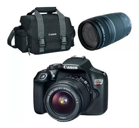 Câmera Canon Eosrebel T6 C/ Lente 18-55mm + 75-300mm + Bolsa