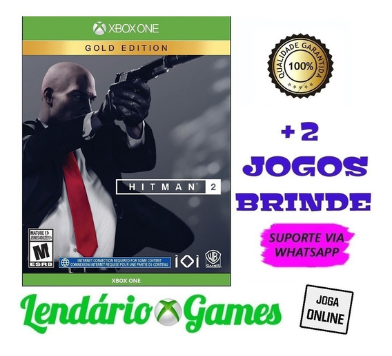 Hitman 2 Edição Ouro X One M. Digital + 2 Brindes