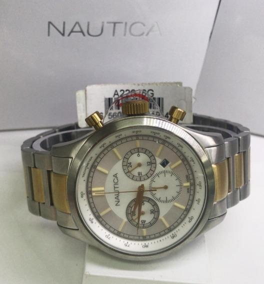 Relógio Nautica Cronografo A22616 G Aço Inox Cronografo