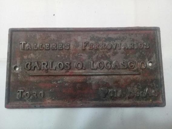 Placa Antigua Ferrocarril - Toro