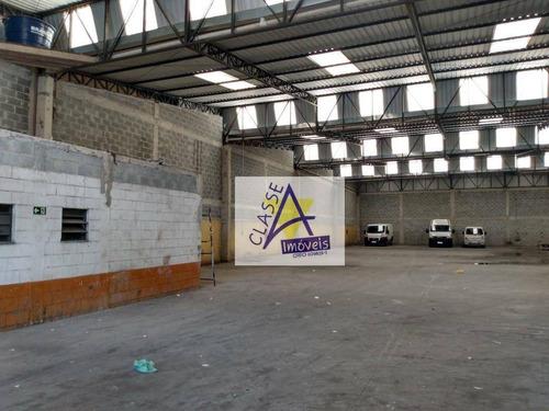 Imagem 1 de 5 de Galpão Para Alugar, 1250 M² Por R$ 25.000,00/mês - Matriz - Mauá/sp - Ga0103