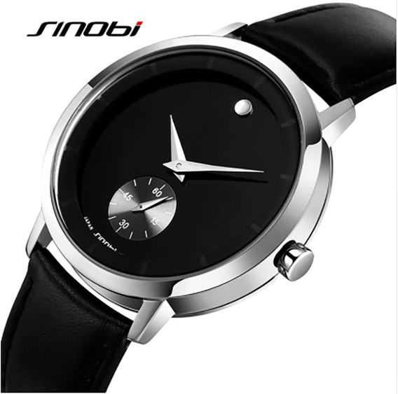 Relógio De Pulso Com Pulseira De Couro - Luxuoso E Elegante