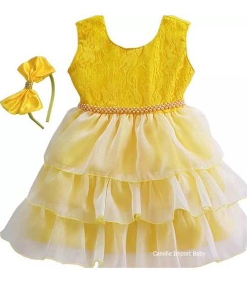 Vestido Bebe Varios Modelos Luxo Princesa Festa Casamento