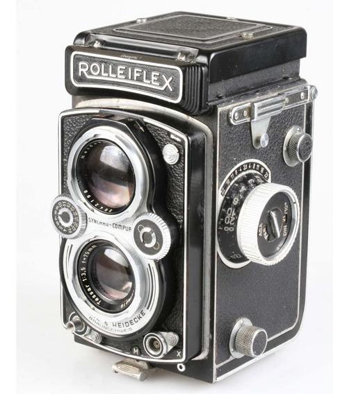 Câmera Analógica Médio Formato Rolleiflex Tessar 75mm F3.5