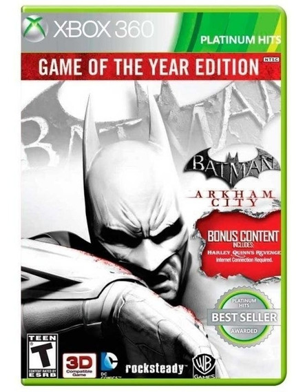 Jogo Batman Arkhan City Xbox 360 Mídia Física Original Novo