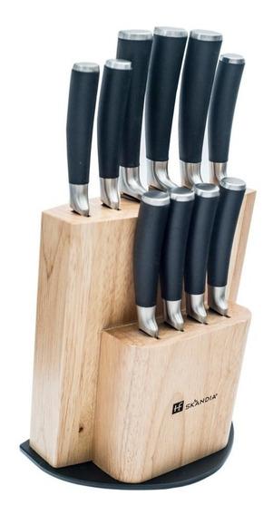 Set 12 Piezas Cuchillos Titanio Skandia Onix Premium