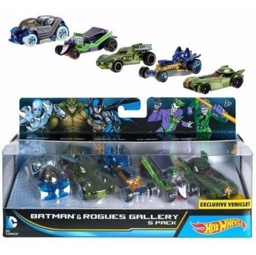Coleccion Batman 5 Carritos Hot Wheels Niños Juguete