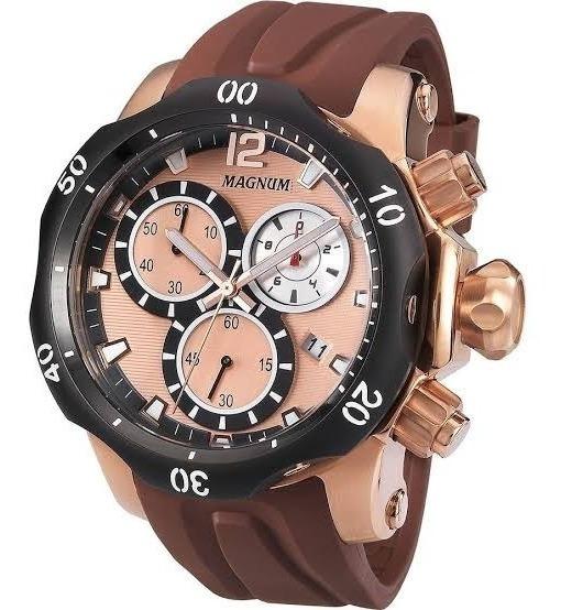 Relógio Dourado Masculino Cronógrafo Magnum Ma33755z