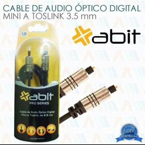 Cable Audio Óptico Digital Mini A Toslink 3.5mm D 1.8mt Abit