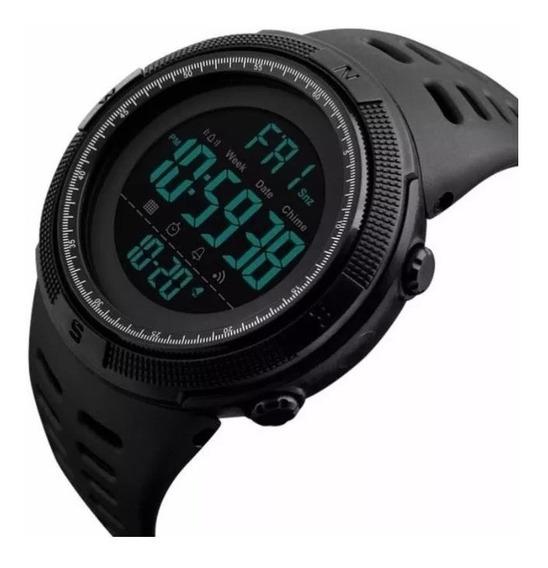 Kit Com 2 Relógio Digital Skmei 1=1251 Preto + 1=1142 Preto