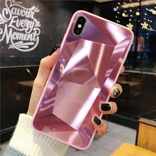 Case De Diamantes Espejo Para Samsung Galaxy Goma Rigida Brilloso Hombre Dama Mujer Funda Fuerte Resistente Elegant Moda