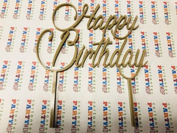 Adorno Torta Cake Topper Happy Birthday 16x14 C944