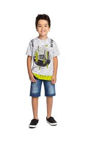 Camisa Angero Flame Masculino Infantil Meninos