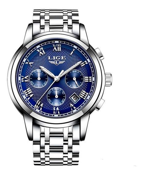Reloj Lige 9849 Hombre Análogo Luxury Stainless Steel
