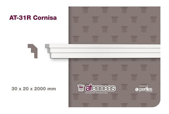 Moldura Cornisa Espuma 30 X 20 Mm X 2 M Atenneas Telgopor Mm