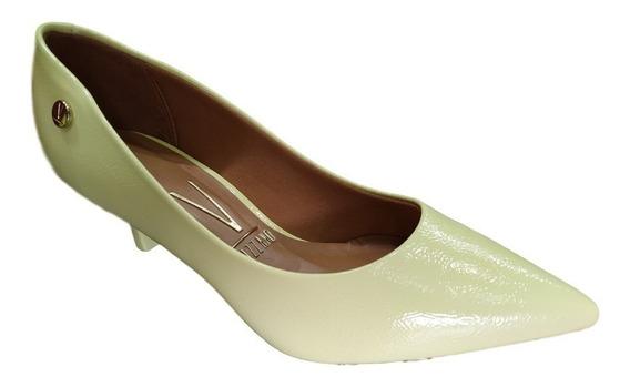 Sapato Feminino Scarpin Vizzano Bico Fino Amarelo Verniz