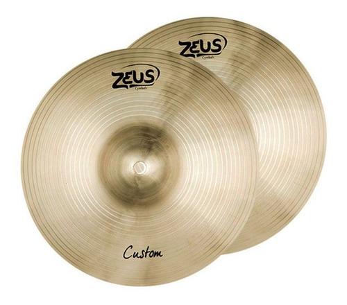 Imagem 1 de 4 de Prato Zeus Custom Hi-hat 13  Zchh13 Par