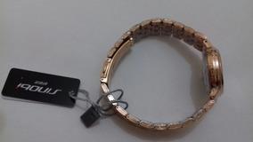 Relógio Feminino Dourado Pulseira Em Metal Quartzo De Luxo!