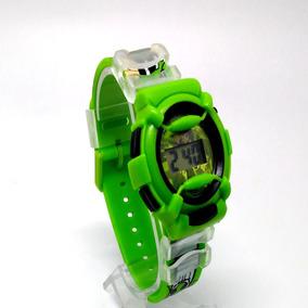 Relógio De Criança Ben 10 Super-herói Digital Frete Grátis