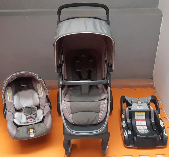 Kit Completo Chicco Keyfit- Carrinho + Bebê Conforto + Base