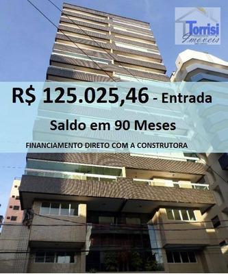 Apartamento Em Praia Grande, R$125.025,46 De Entrada, 02 Dormitórios Sendo 01 Suite No Forte Ap0383 - Ap0383