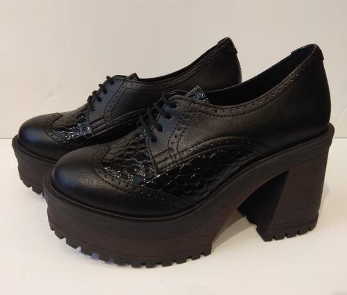 Zapato Acordonado Con Taco Savage 35 Al 40