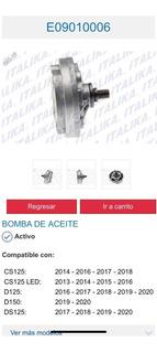 E09010006 Bomba De Aceite Italika Motonetas Ds /gs /cs