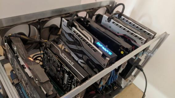 Rig Mineração Criptomoedas 6x Radeon Rx570 Ethereum 170 Mh/s