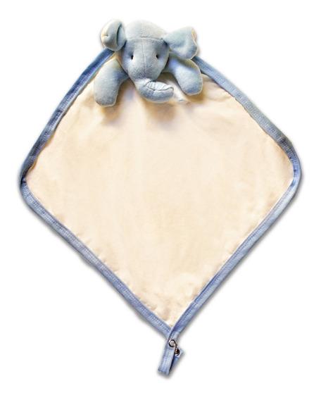 Naninha Bebê Cheirinho Porta Chupeta Elefante Azul