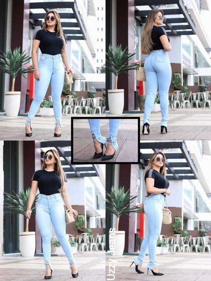 Calças Jeans Femininas Baratas Cintura Alta Liquidação