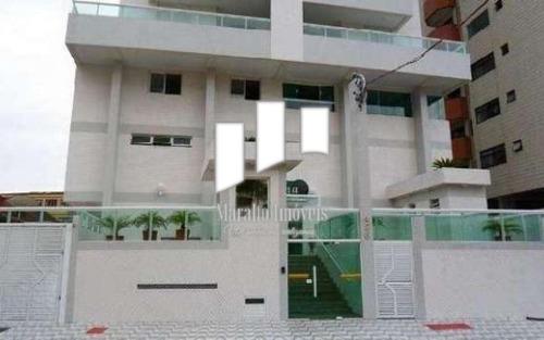 Apartamento Sacada Gourmet E 2 Vagas Em Praia Grande Sp.