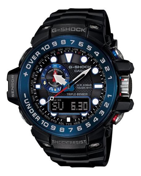 Casio Men S G Shock Gwn1000b 1b Negro Resina Reloj De Cuarz