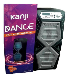 Parlante Portatil Kanji Bluetooh Radio Fm Usb Luces Led