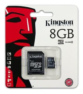 Micro Sd Kingston 8 Gb Adap Sd Nueva Blister Envío Express