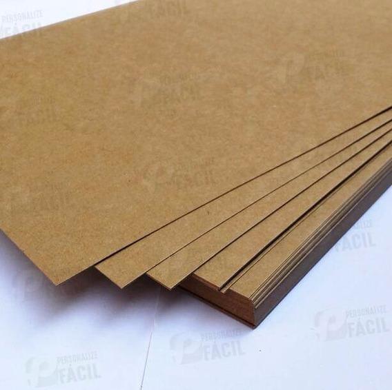 Papel Kraft 240g Liso Fosco Para Scrapbook 30x30 200 Folhas