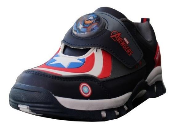 Zapatillas Deportivas Marvel Velcro Capitan America Atomik