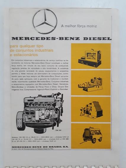 Propaganda Antiga Motores Mercedes Benz Om 321 Publicidade