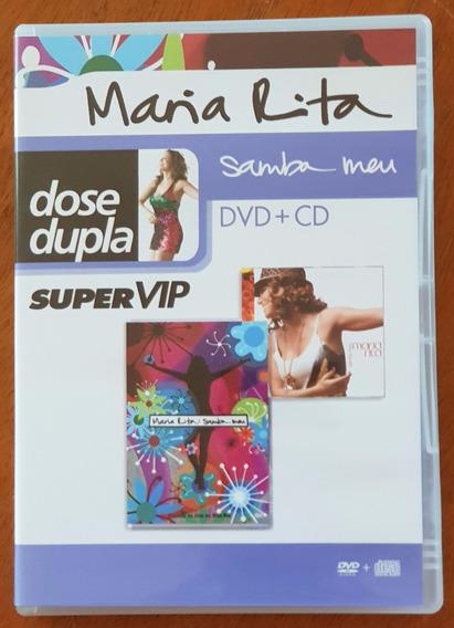 Dvd + Cd Maria Rita Dose Dupla Super Vip Samba Meu