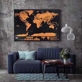 Mapa Mundi De Raspar Viagens Raspadinha Scratch Map 80x60cm