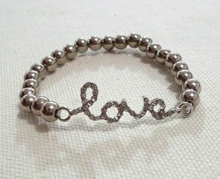 Set Aretes + Pulsera Love Amor Cristales Importado En Stock