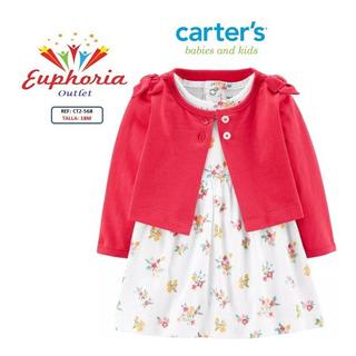 Vestido Con Cardigan De Carters Talla 18 Meses