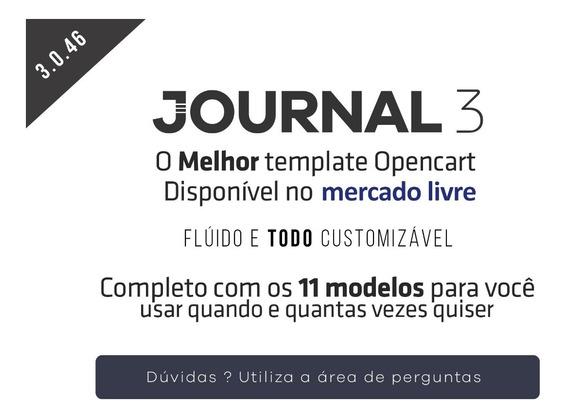Tema Journal Opencart 3x E 2x (demos Inclusas)