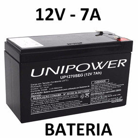 Bateria Unipower Estacionária 12v 7a Vrla P/ No-break Alarme